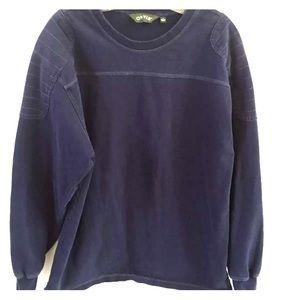 Orvis Sweatshirt Medium Blue Long Sleeve Pull Over